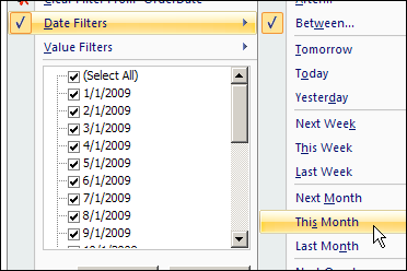 Pivot Table Date Filters - Excel Pivot Tables