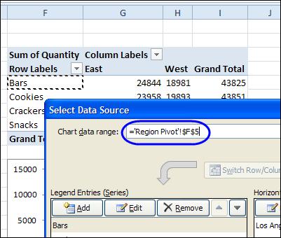 Change Pivot Chart Source Data - Excel Pivot Tables