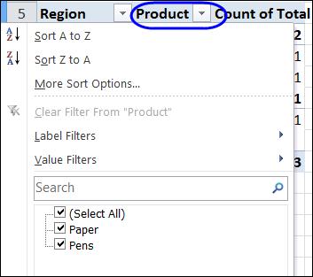 Hide drop down arrows in pivot table headings excel pivot labelfilter01 ibookread Read Online