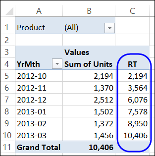 excel 2013 how to get totals in a column