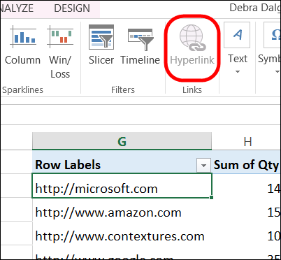 Create Fake Hyperlinks in Excel Pivot Table - Excel Pivot Tables
