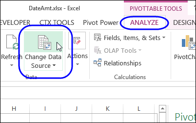 find the source data for your pivot table excel pivot tables