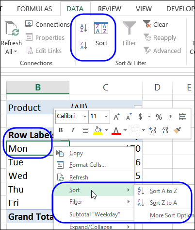 reorder in pivot table