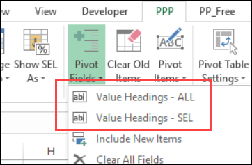 pivot power premium value headings