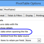 Automatically Refresh a Pivot Table
