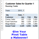 Give Your Excel Pivot Table a Makeover