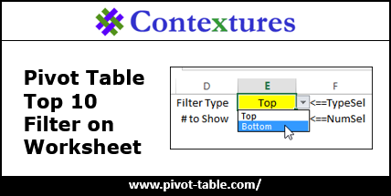 Pivot Table Top 10 Filter Macro http://www.pivot-table.com/