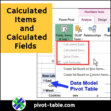 Create Pivot Table Calculated Item and Calculated Field