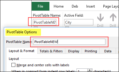 pivot table name rules