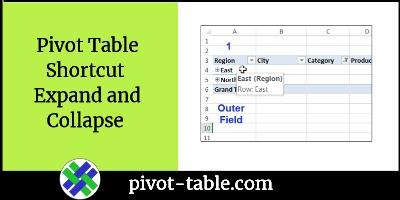 pivot table shortcut